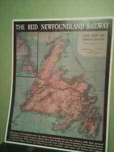 1899 MAP OF THE REID NEWFOUNDLAND RAILWAY. New Condition