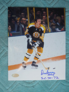 DON AWREY Boston Bruins Autographed 8x10 Photo With COA