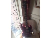 Cherry red Gibson SG