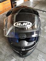 Black HJC RPS-10 Motorcycle Helmet (new / neuf)