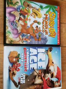 Scooby Doo and Ice Age DVD's