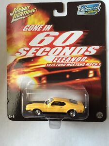 Yellow 1973 Ford Mustang Mach 1 (Eleanor) 1/64 die cast model