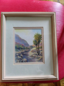 Framed picture -- nature scenery. Purchased in Palm Springs, CA
