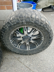 5 bolt dodge 20inch rims with 35s micky tompsons