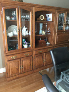3 piece Palliser china cabinet, display cabinet and bar