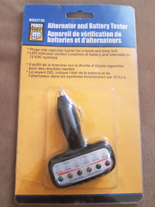 12V alternator and battery tester