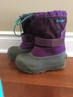 Columbia Toddler Girls Lined Snow Boots Size 12