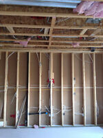 Framing, Basement frost wall framing, Residential and Commercial