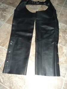 Motorcycle chaps and boots