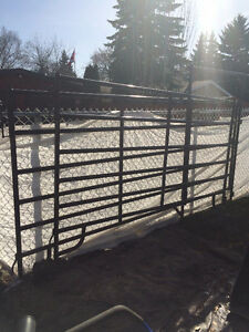 2 brown corral panels for sale