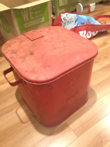 Vintage Oil rag can from Protectoseal Chicago 1416