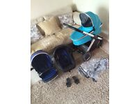 Oyster 2 travel system with car seat and carrycot , pram stroller buggy pushchair maxi Cosi ect