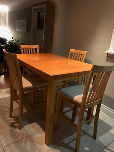 Pub Style Table Set - 6 Chairs