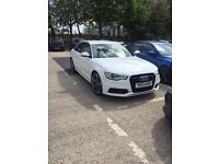 Audi A6 auto black edition , FASH, next service paid for too! white , full leathers, Bose, sat nav