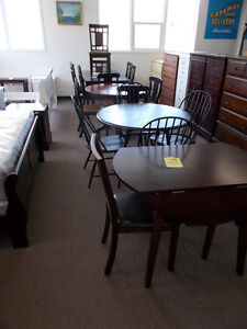Large selection of table and chair sets. $299 and up.
