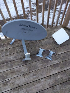 Satellite dish and modem $100 OBO