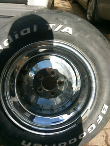 Classic Style Chrome Steely Rims 5-bolt pattern.