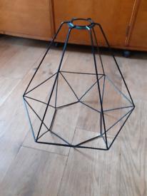 IKEA black metal lampshade