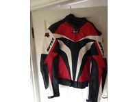 Spike leather motorbike jacket like new