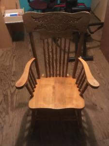 Press back rocking chair
