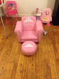 Princess or prince personalised chair