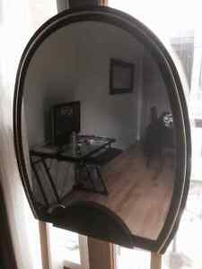 MIRROR MIROIR BLACK WOOD AND GOLD OVAL BIG + NICE