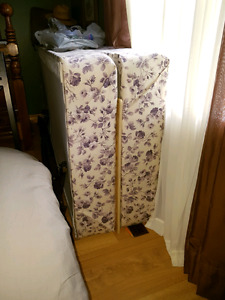 King size headboard and box spring for California king