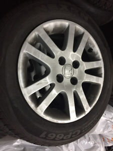 1 set of Nexen CP661 185/65R15 on Honda Civic alloy rims