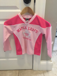 Size 6 Girls Toronto Maple Leafs hockey jersey