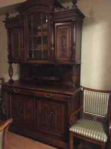 Large Antique French Renaissance  Buffet  Sideboard  Cabinet