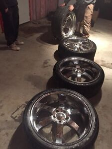 "24"" boss rims with 80% rubber Moose Jaw Regina Area image 2"
