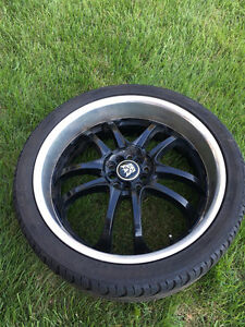 20 inch MSR 085 Rims + Tire Package 5x114.3/5x110 bolt pattern Cambridge Kitchener Area image 1