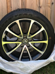 BRAND NEW Goodyear All Season Eagle 225 50r18 Tires + Alloy Rims