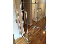 Large industrial (shop quality) clothes rail. 1.8mx1.2mx0.55m disassembles for transport