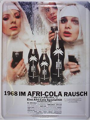 Afri Cola Nonnen Kult Werbe Blechschild Gewölbt Neu  30x40cm S554