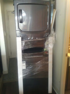New washer dryer. Stacked.