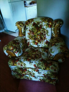 FREE - Vintage floral rocking arm chair