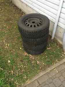 Winter rims and tires, 4x100 / 195 60 R14