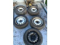 Berlingo wheels 175 65 14 x5 like new tyres
