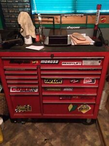 13 drawer snap on bottom tool box chest