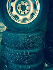 245 75 17 LT Summer tire with mag on sale