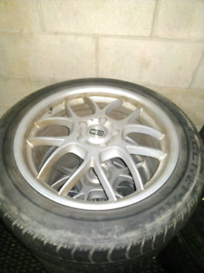18 inch alloy wheels and tires
