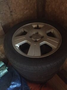 """Four 16"""" Wheels with evertrek  tires"""