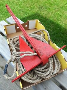 Boat anchor with 100 feet of rope.