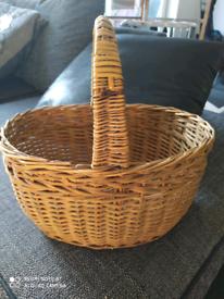 Vintage Wicker basket school cookery shopping