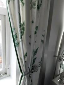 1 pair of curtains 46x90 drop.