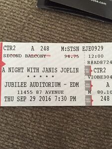 Tonight! A night with Janis Joplin at the jubilee