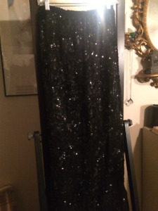 Black Sequin Maxi Skirt fancy, formalwear