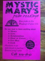 Palm readings, coffee ground readings and more