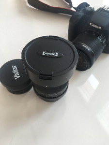 New Canon EOS Rebel T5i and 2 Lenses